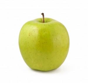 a green, delicious apple