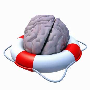 brain with life preserver