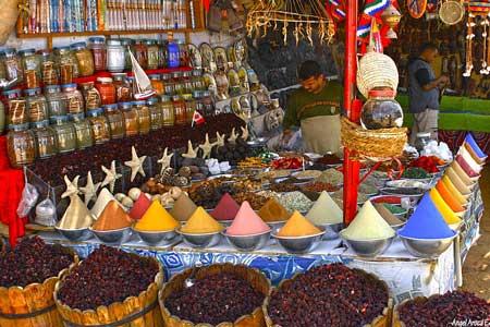 An Egyptian spice market