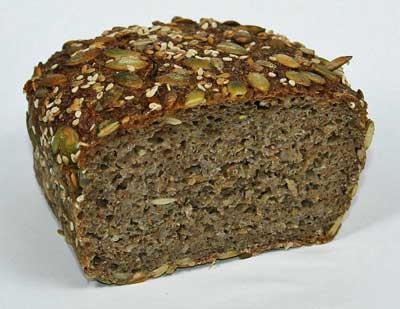 load of rye bread.