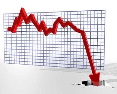graph of a crash