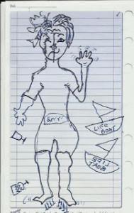 Celeste Self Caricature