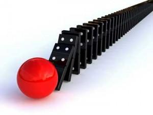 domino's falling