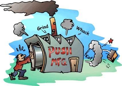 cartoon of a push