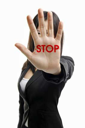 Woman Saying Stop