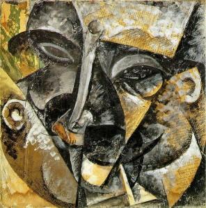 Man's Head abstract