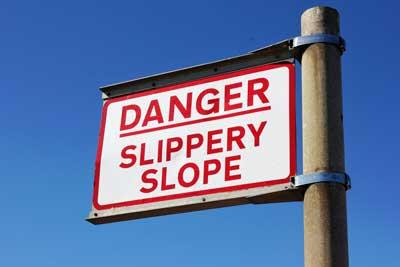slippery slop